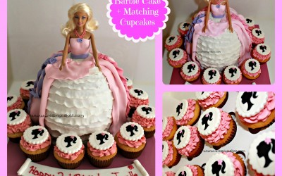 Barbie_cake_with_cupcakes