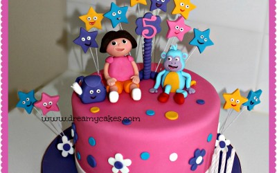 Dora-and-boots-cake