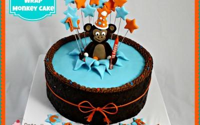 monkey-chocolate-wrap-cake