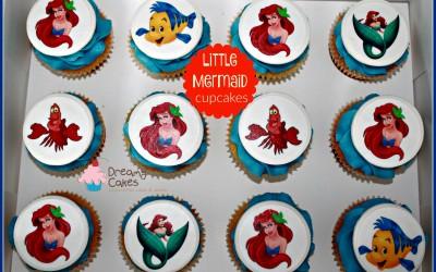 Ariel little mermaid cupcakes