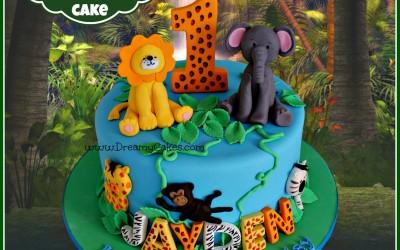 Jungle cake single tier