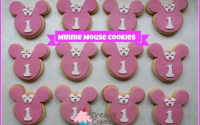 Minnie Mouse sugar cookies
