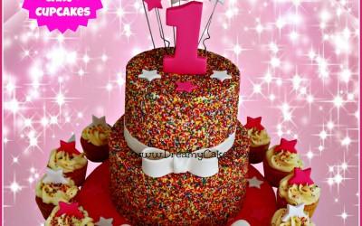 Sprinkle cake 2 tier