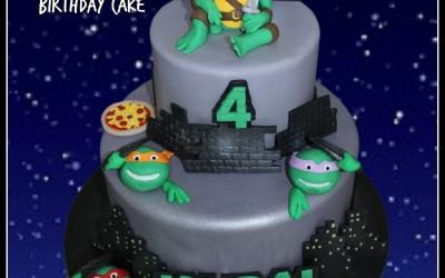 TMNT 2 tier cake
