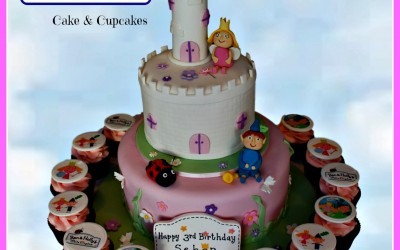 ben and holly cake and cupcakes