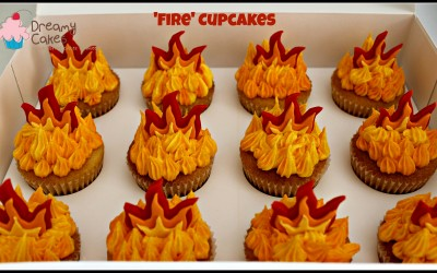 fire cupcakes