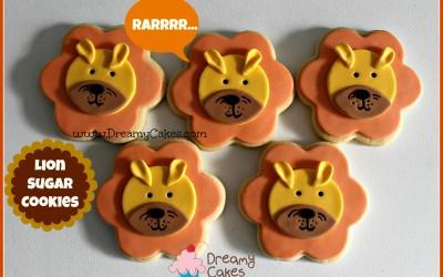 lion sugar cookies