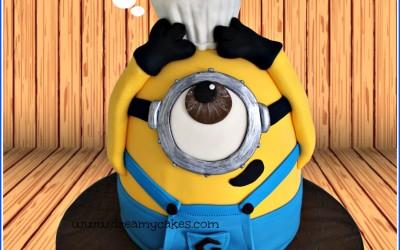 minion with cupcake