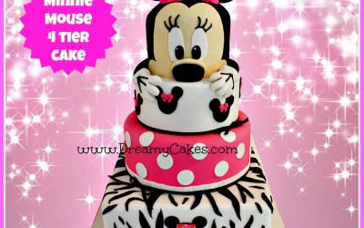 minnie mouse 4 tier