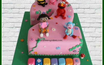 number 2 characters cake