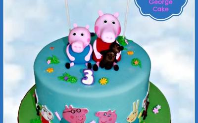 peppa Pig and geroge cake