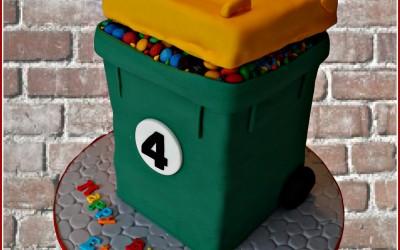 rubbish bin cake